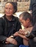 Enn Tribe Villager & Child. Myanmar Royalty Free Stock Photography