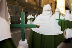 Enna, Sicilië, Italië 25 Maart, de godsdienstige Parade van 2016, in stad van Royalty-vrije Stock Afbeelding