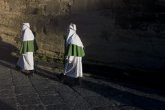 Enna, Sicilië, Italië 25 Maart, de godsdienstige Parade van 2016, in stad van Stock Foto's