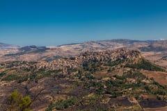 Enna Sicilien, Italien Arkivbild