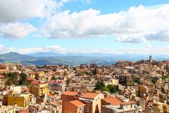 Enna, Sicily, Italy. Aerial view of Enna, Sicily, Italy royalty free stock images