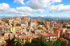 Enna, Sicily, Italy. Aerial view of Enna, Sicily, Italy stock photography