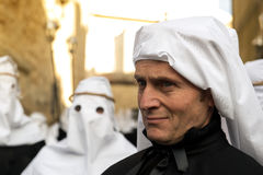 Enna, Sicily, Italy - March 25, 2016 gaze of man partecipant Goo Royalty Free Stock Image