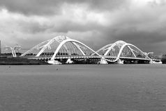 Enneüs Heermabrug, IJburg, Amsterdam,Holland. Enneüs Heerma bridge is for the residents of IJlburg, the new gateway to Amsterdam. My favorite bridge with its Royalty Free Stock Photo