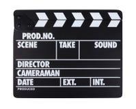 Ennegrézcase con la película del mazo de las letras del blanco aislada en blanco Fotografía de archivo libre de regalías