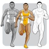 Ennegrezca al atleta Imagenes de archivo