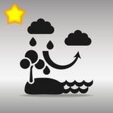 Ennegrezca el concepto del símbolo del logotipo del botón del icono del ciclo del agua de alta calidad Foto de archivo libre de regalías