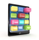 Ennegrezca la pista de tacto elegante de la tablilla Imagen de archivo libre de regalías