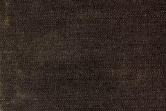 Ennegrezca la textura del dril de algodón Foto de archivo libre de regalías
