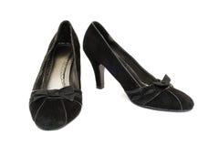 Ennegrezca los zapatos Foto de archivo libre de regalías
