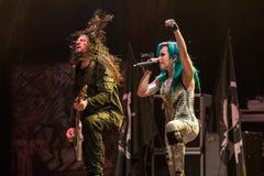Ennemi de voûte chez Metalfest 2015A Images libres de droits