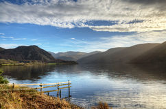 Ennerdale Water with foreground fence Royalty Free Stock Photography