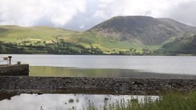 Ennerdale Water Lake District National Park Cumbria England uk with wall stock video footage