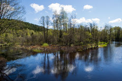 Enningdal salmon river. Enningdal River, also called Berby River, is located just south of Østfold in Halden municipality. It flows through Enningdal Bullaren Royalty Free Stock Photography