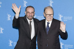 Ennio Morricone and Giuseppe Tornatore Royalty Free Stock Photo