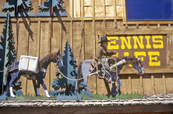 Ennis Caf�, Ennis, MT Royalty Free Stock Image