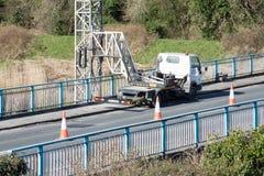 Ennis, Ireland - Feb 25, 2016:  Bridge repair motorway maintenance Royalty Free Stock Photos
