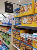 Ennis, Ireland - Nov 17th, 2017:  Aldi Store in Ennis County Clare, Ireland. Selection of various breakfast cereals. Stock Photography