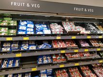 Ennis, Ireland - Nov 17th, 2017:  Aldi Store in Ennis County Clare, Ireland. Selection of various fruit and  vegetables. Stock Images