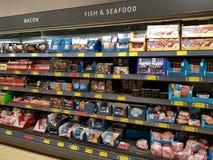 Ennis, Ireland - Nov 17th, 2017:  Aldi Store in Ennis County Clare, Ireland. Selection of various Irish seafood. Stock Photo