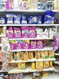 Ennis, Ireland - Nov 17th, 2017:  Tesco Store in Ennis County Clare, Ireland. Selection of various Cat and Kitten food. Stock Image