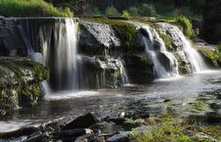 Ennistymon falls. Cascades in Ennistymon - Ireland at summer Stock Image