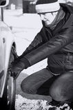 Ennui de véhicule en hiver image libre de droits