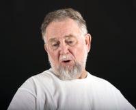 Ennui de vieil homme photos stock