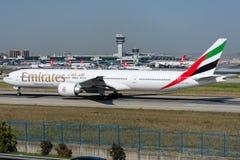 A6-ENO Emirate, Boeing 777-31H Lizenzfreie Stockbilder