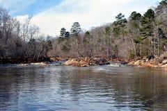 Eno river. Last winter , eno river north carolina royalty free stock photo