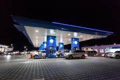ENOC-Benzinepost in Doubai Stock Afbeelding