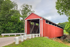 Enochsburgh Road Covered Bridge Royalty Free Stock Photography