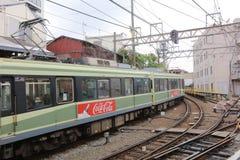 Enoden linje i Kamakura, Japan Fotografering för Bildbyråer