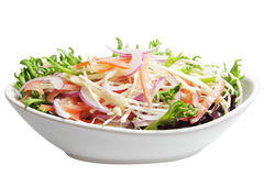 Enoki and Chicory Lettuce Salad Royalty Free Stock Photos