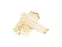 Enoki mushroom, Golden needle mushroom isolated on white backgro Royalty Free Stock Images