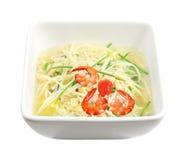 Enoki Mushroom Soup Royalty Free Stock Image