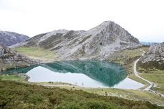 Enol lake Royalty Free Stock Images