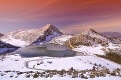Enol lake. Stock Photography