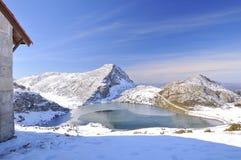 Enol lake. Royalty Free Stock Image