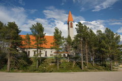 Enontekiö Church in Hetta, Lapland in north-western Finland. Royalty Free Stock Photography