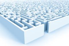 Enorm azur labyrintstruktur med ingången Royaltyfri Bild
