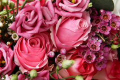 Enorm bukett av rosor Royaltyfria Foton