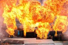Enorm explosion Royaltyfri Bild