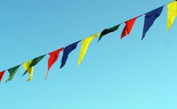 Enorm färgflagga Royaltyfri Foto