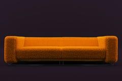 enorm fluffig orange sofa royaltyfri illustrationer