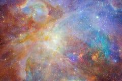 Enorm galax i yttre rymd Starfields av ?ndl?st kosmos stock illustrationer