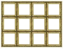 Enorm guld- ram Arkivbild