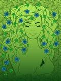 Enorm härlig flicka stock illustrationer