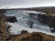 Enorm isländsk vattenfall Royaltyfri Fotografi