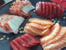 Enorm japansk mat: Sashimi Shanghai, Kina Arkivfoto